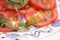 Free Salad Of Tomatoes Stock Image - 18187381