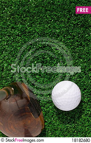 Free Golf Ball And Driver Stock Photo - 18182680