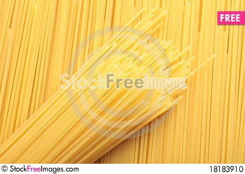 Free A Bunch Of Spaghetti, Uncooked Spaghetti Noodles Stock Photo - 18183910