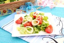 Free A Fresh Salad With Tomatoes Royalty Free Stock Photos - 18180008