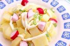 Free Fresh Salad Of Potatoes Royalty Free Stock Photos - 18180468
