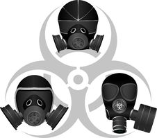 Free Gas Masks And Biohazard Sign Royalty Free Stock Photos - 18181078