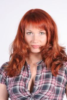 Free Portrait Of Beautiful Young Redheaded Woman Stock Photography - 18181342