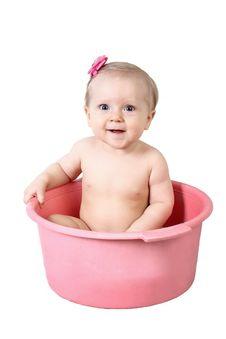 Cute Baby Having Bath Royalty Free Stock Photos