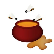 Free Pot With Honey Royalty Free Stock Photo - 18182435