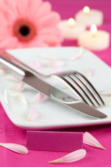 Free Romantic Place Setting Stock Photo - 18182440