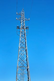 Free Tower Of High Voltage Electric Power Royalty Free Stock Image - 18182446