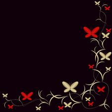 Free Background With Butterflies Stock Images - 18182454
