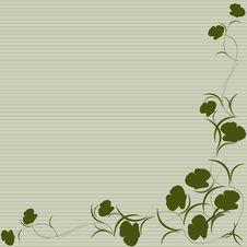 Free Green Floral Background Royalty Free Stock Image - 18182466