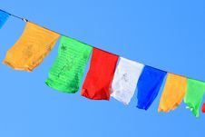 Free Prayer Flags Royalty Free Stock Photo - 18182895