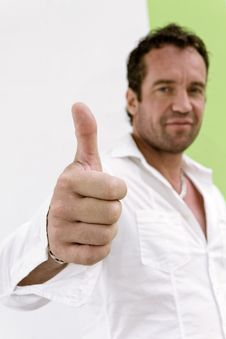 Thumb Up Is Good Royalty Free Stock Photo