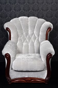 Free Vintage Brown-gray Chair Royalty Free Stock Photos - 18183168
