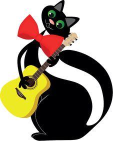 In Love Black Cat Royalty Free Stock Photo