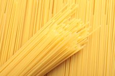 A Bunch Of Spaghetti, Uncooked Spaghetti Noodles Stock Photo