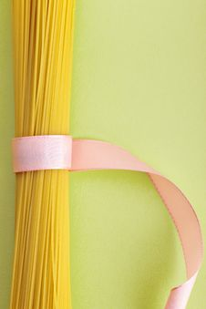 A Bunch Of Spaghetti, Uncooked Spaghetti Noodles Stock Photography