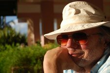 Free Senior Man Tourist Royalty Free Stock Photos - 18184128