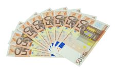 Free Fifty Euro Banknotes Stock Images - 18184194