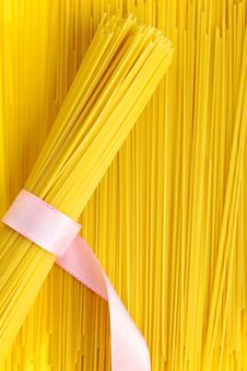A Bunch Of Spaghetti, Uncooked Spaghetti Noodles Stock Images
