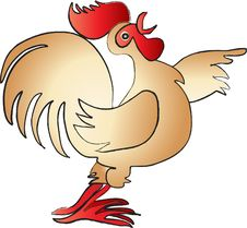 Free Cock With Open Beak Royalty Free Stock Photography - 18184247