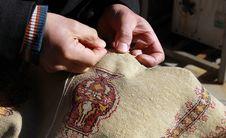 Free Craft Of Carpet, Turkey. Royalty Free Stock Photos - 18184298