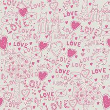 Free Seamless Romantic Pattern Royalty Free Stock Photography - 18184557