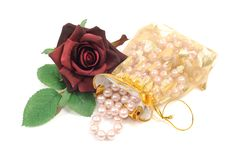 Free Roses And Pearls Royalty Free Stock Image - 18184656
