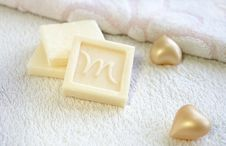 Olive Oil Soap For Bath And Spa Treatment Stock Photos