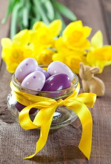 Free Colorful Easter Eggs Royalty Free Stock Photo - 18184725