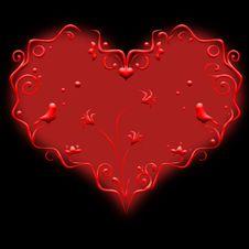 Free Decorative Heart Royalty Free Stock Photos - 18184838
