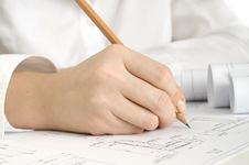 Free Hand With Pencil Drawing Stock Photos - 18184843