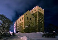 Gloomy Castle In Turku Stock Image