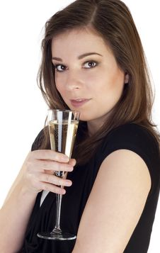 Free Woman With Champagne Stock Image - 18185561