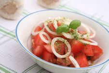 Free Salad Of Tomatoes Royalty Free Stock Photo - 18185685