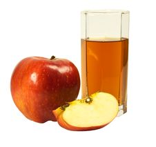 Free Glass Of Juice And Apple Stock Image - 18185821