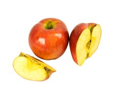 Whole And Sliced Apples Royalty Free Stock Photo