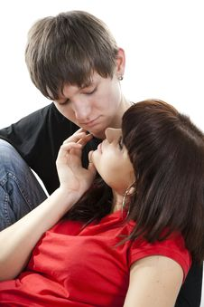 Free Sensual Dialogue Enamoured Couple Royalty Free Stock Photo - 18185995