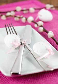 Free Easter Banquet In Pink Royalty Free Stock Image - 18186476
