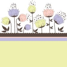 Free Background With Flowers. Vector Illustration Royalty Free Stock Photo - 18186635