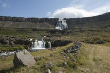 Free Waterfall Dynjandi In Iceland Royalty Free Stock Images - 18186759
