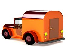Free 3d Orange Toy Car Isolated Royalty Free Stock Photo - 18187075