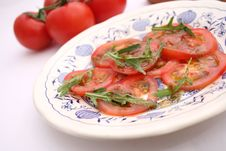 Free Salad Of Tomatoes Royalty Free Stock Images - 18187159