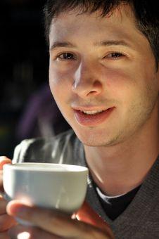 Free Man Having Coffee Royalty Free Stock Photos - 18187188