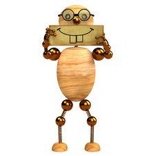 Free 3d Wood Man Smile Stock Photos - 18187253