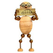 Free 3d Wood Man Angry Royalty Free Stock Photo - 18187255