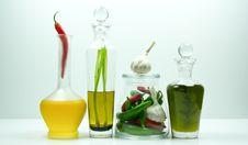 Decorative Bottles Royalty Free Stock Photos