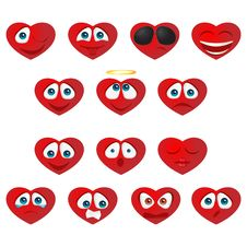 Free Heart Smiley Stock Images - 18187904