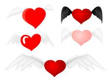 Free Heart With Wings Royalty Free Stock Images - 18187909