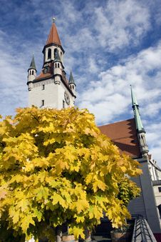 Free Clock Tower In Munich Royalty Free Stock Photos - 18188658