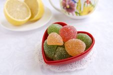 Free Colorful Candies In A Heart-shape Vase Stock Images - 18188724