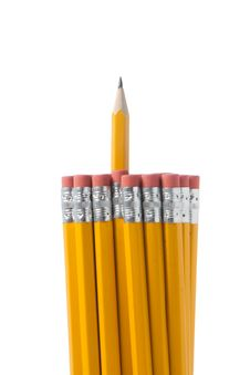 Free Bunch Of Pencils On White Royalty Free Stock Images - 18189169